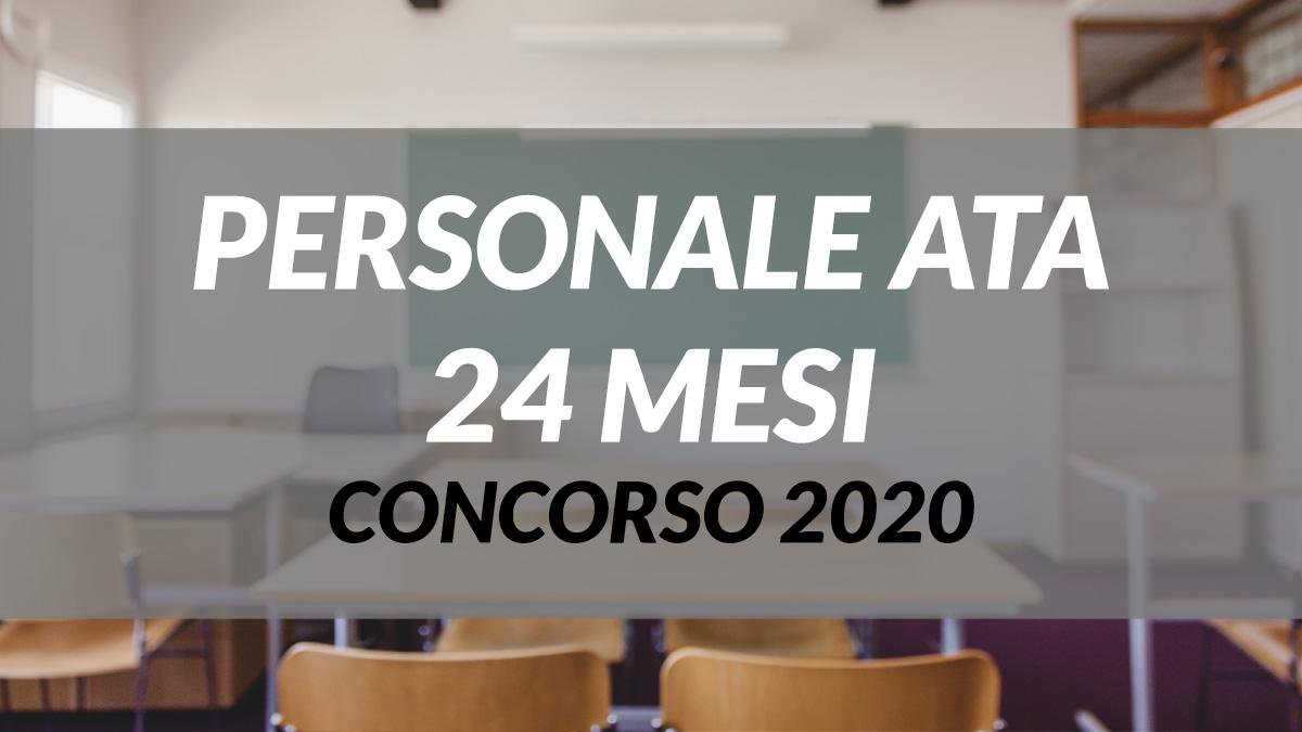Bandi di concorso  personale ATA a.s. 2020/21