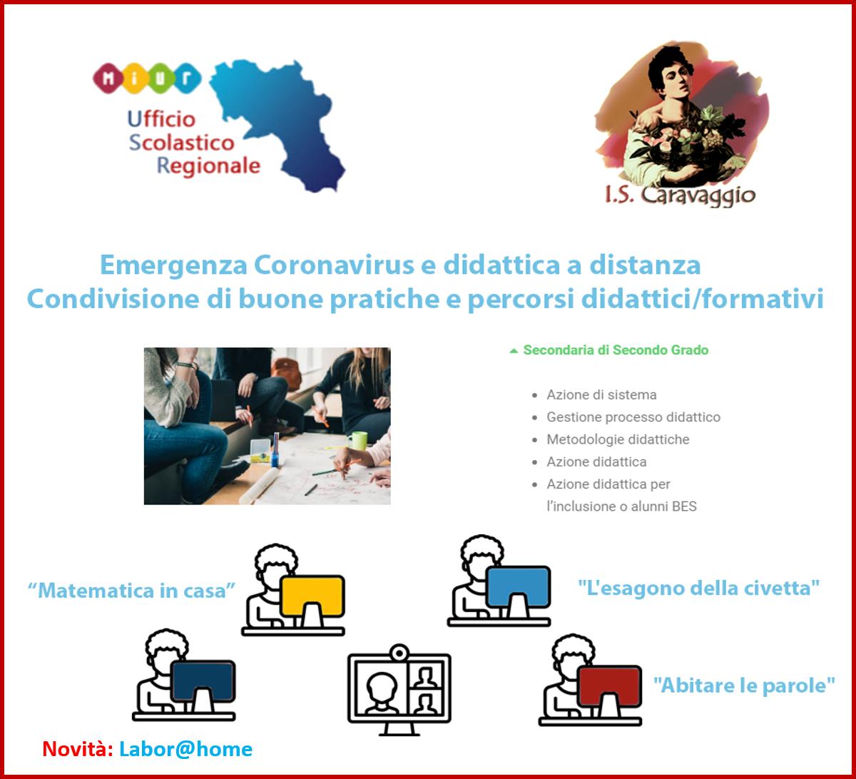 Emergenza Coronavirus e didattica a distanza - Condivisione di buone pratiche e percorsi didattici/f [..]