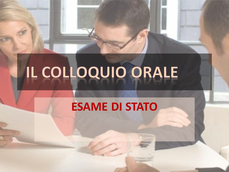 Calendario colloqui candidati interni